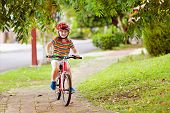 Kids On Bike. Child On Bicycle. Kid Cycling. poster