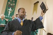 stock photo of minister  - Preacher Preaching the Gospel - JPG