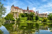 Sigmaringen Castle Rising Above Danube River, Germany. This Beautiful Castle Is A Landmark Of Baden- poster