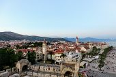 An Awesome And Interesting Full View Of The Town Of Trogir From Tower Kamerlengo, Outside Of Split,  poster