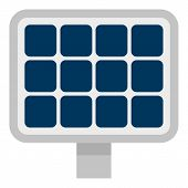Solar Panel Icon. Flat Illustration Of Solar Panel Vector Icon For Web Design poster