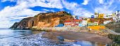 Grand canary island (Gran Canary) - beautiful coastal village Puerto de Sardina. canary islands of S poster