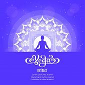 Yoga Studio Logo With Mandala Design. Banner Design For Yoga Classes. Yoga,spa, Oriental Practice Th poster