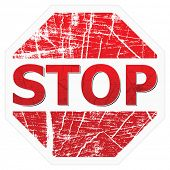 picture of truck-stop  - stop sign - JPG