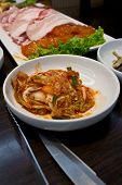 foto of kimchi  - kimchi in the korean restaurant very delicious - JPG