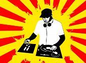 Постер, плакат: DJ на работе