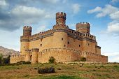stock photo of castle  - MADRID - JPG