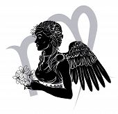 image of virgo  - Illustration of Virgo the virgin zodiac horoscope astrology sign - JPG
