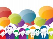 stock photo of avatar  - discussion and communication between people on business - JPG