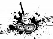 stock photo of wacky  - cool wacky grunge Music background with music details - JPG
