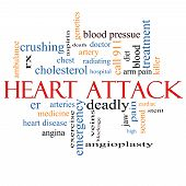 stock photo of stent  - Heart Attack Word Cloud Concept with great terms such as heart disease rx artery doctor and more - JPG