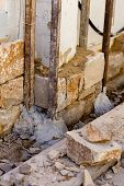 Masonry stone wall construction process traditional stonework