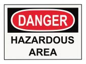 image of osha  - OSHA danger hazardous area warning sign isolated on white - JPG