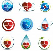 foto of atherosclerosis  - Human heart symbol collection - JPG