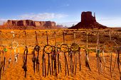picture of dreamcatcher  - Dreamcatcher Monument West Mitten Butte morning with navajo indian crafts Utah - JPG