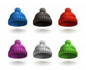 picture of knitted cap  - Knitted cap - JPG