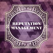 Reputation Management. Vintage Design Concept.