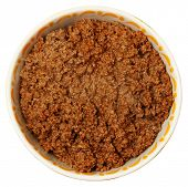 picture of ground-beef  - Bowl of Cooked Ground Beef Over White Background - JPG