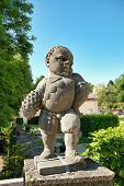 foto of garden sculpture  - Dwarf sculpture in Mirabell gardens in Salzburg  - JPG