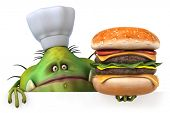 stock photo of germs  - Germ chef - JPG