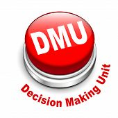 foto of gatekeeper  - 3d illustration of dmu decision making unit button isolated white background - JPG