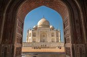 stock photo of mumtaj  - Taj mahal Wonderful architecture at Agra india - JPG