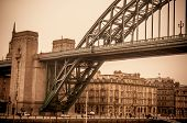 stock photo of tyne  - Iron bridge in Newcastle upon Tyne in England - JPG