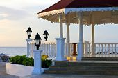 image of gazebo  - Gazebo on the beach for weddings - JPG