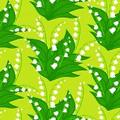Floral pattern with lily-of-the-valley flowers