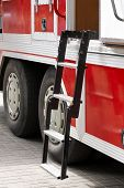 foto of ladder truck  - Fire engine ladder - JPG