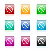stock photo of denied  - access denied web icons set - JPG