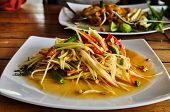 stock photo of papaya  - Green papaya salad  - JPG