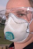 pic of nonwoven  - safety glasses respirator dust mask ppe personal protective equipment - JPG
