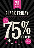 stock photo of friday  - A retail poster advertising a Black Friday sale - JPG