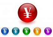 picture of yen  - yen internet icons colorful set - JPG