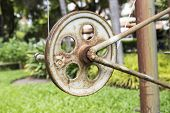 pic of pulley  - the pulley for pulling the flag on the pole - JPG