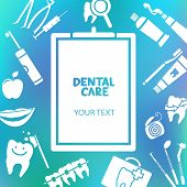 foto of dental  - Medical clipboard with dental care text - JPG