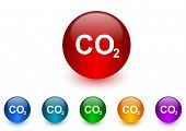 picture of carbon-dioxide  - carbon dioxide internet icons colorful set - JPG
