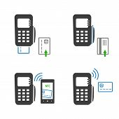 picture of payment methods  - Vector icons of payments methods - JPG