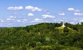foto of cross hill  - The Three Cross Hill in Vilnius capital of Lithuania - JPG
