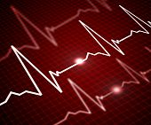 foto of shaky  - Facilities with the image of the heart rate - JPG