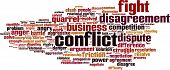picture of friction  - Conflict Word Cloud Concept - JPG