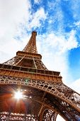 pic of arch foot  - View at foot of Eiffel Tower - JPG