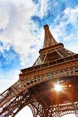 stock photo of arch foot  - View at foot of Eiffel Tower - JPG