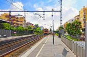 picture of gare  - Suburban railway train at the railways station - JPG