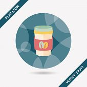 pic of takeaway  - Takeaway Coffee Flat Icon With Long Shadow - JPG