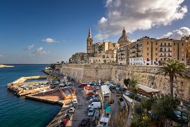 image of maltese  - Skyline of the Maltese Capital city Valletta Malta - JPG