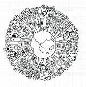 foto of population  - Vector illustration of Monsters Population of Our World  - JPG