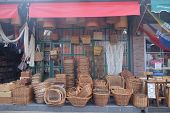 stock photo of stall  - A beautiful local market in Tigre - JPG
