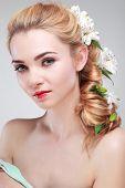 image of grey-haired  - Beautiful girl - JPG